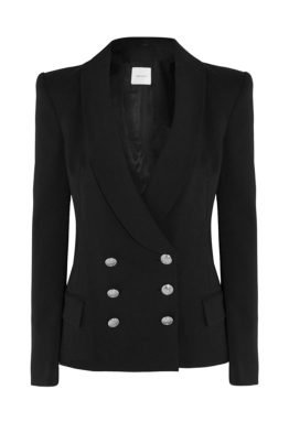 Pierre Balmain - Double Breasted - Black - Front