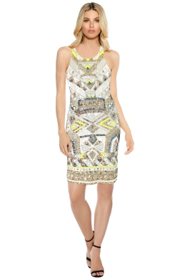 Pizzuto - Speed of Light Cocktail Dress - White - Front