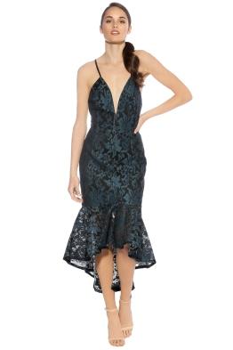 Premonition - Florica Cocktail Dress - Teal Black - Front