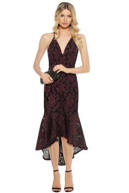 Premonition - Florica Cocktail Dress - Wine Black - Front