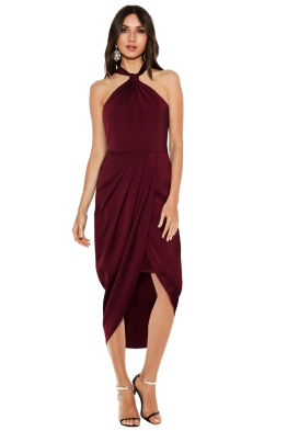 Premonition - Pinot Cocktail Dress - Wine - Front