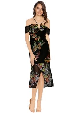 Premonition - Secret Garden Cocktail Dress - Black - Front