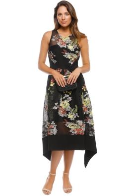 Premonition - Secret Garden Dress - Black Floral - Front