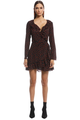 Realisation Par - The Alexandra Mini Dress - Italia Spot - Front
