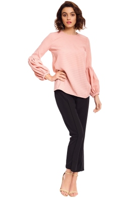 Ambrosia Gathered Sleeve Top - Clay
