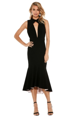 Rebecca Vallance - Bravado High Neck Plunge Dress - Front
