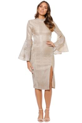 Rebecca Vallance - Cancun Deep V Midi Dress - Front