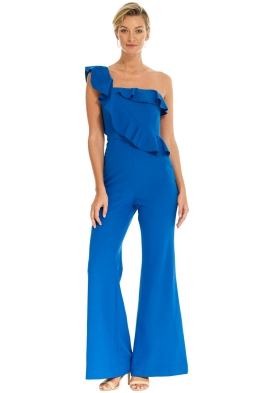 Rebecca Vallance - Caspian One Shoulder Jumpsuit - Blue - Front
