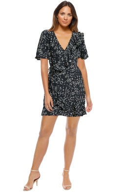 Rebecca Vallance - Flores Wrap Dress - Ink Black - Front