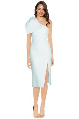 Rebecca Vallance - Hamptons Midi Bow Dress - Blue - Front