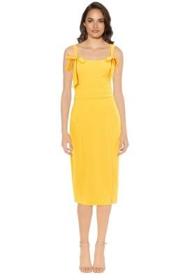 Rebecca Vallance - Havana Midi Dress - Saffron - Front