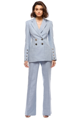 Rebecca Vallance - Maya Blazer and Pant Set - Pastel Blue - Front