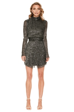 Rebecca Vallance - Paparazzi Long Sleeve Mini Dress - Front