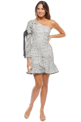 Rebecca Vallance - Sofia One Shoulder Dress - Front