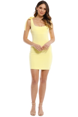 Rebecca Vallance - Zinnia Mini Dress - Yellow - Front