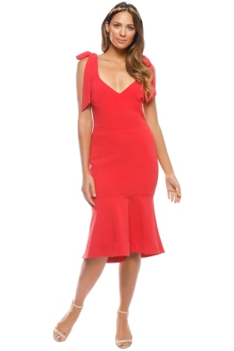 Rebecca Vallence - Domingo Dress - Red - Front