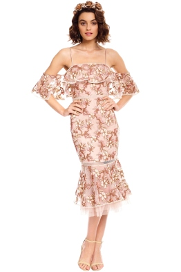 Rodeo Show - Rowena Lace Dress - Nude - Front