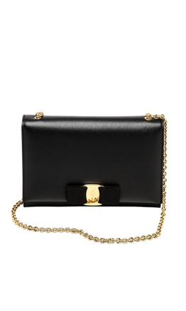 Salvatore Ferragamo - Miss Vara Mini Bag - Front - Black