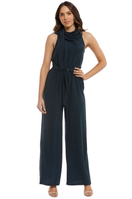 Sass and Bide - The Icon Jumpsuit - Petrol - Front