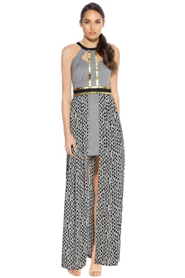 Sass and Bide - The Invincible Maxi Dress - Black White - Front
