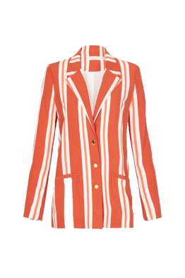 Sass and Bide - The Strata Jacket - Orange Stripe - Ghost Front