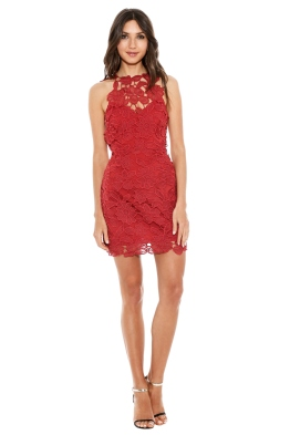Saylor - Jessa Dress - Front - Red