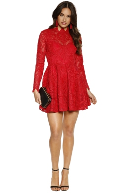 Saylor - Rita Dress - Raspberry - Front
