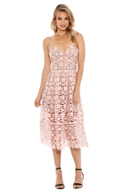 Self Portrait - Azaelea Lace Midi Dress - Pale Pink - Front