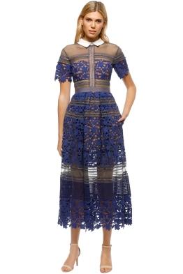 Self Portrait - Liliana Dress - Blue - Front