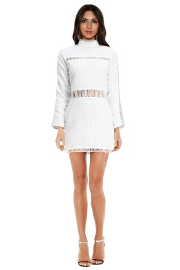 Shakuhachi - Cut Out Lace Panelled Mini - Front