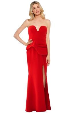 Sheike - Queen of Hearts Maxi Dress - Red - Front