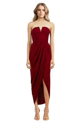 Shona Joy - Core V Bustier Draped Dress