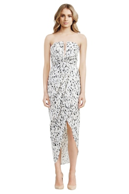 Shona Joy - Deia Draped Maxi Dress - Front - Prints - christmas work function