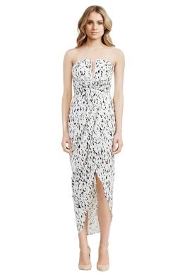 Shona Joy - Deia Draped Maxi Dress - Front - Prints - christmas work function