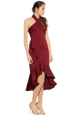 Shoshanna - Boswell High Low Dress - Side - Red