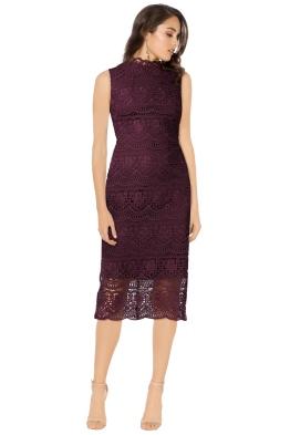 Shoshanna - Mirian Dress - Aubergine - Front