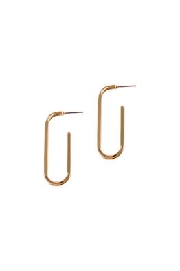 Adorne - Single Link Stud Earrings - Front