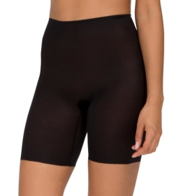 Spanx - Skinny Britches Black Mid Thigh Short - Front