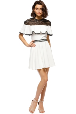 Stylestalker - Dahlia Circle Dress - White Black - Front