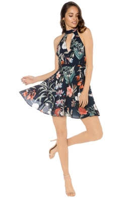 Stylestalker - Jasper Circle Dress - Black Floral - Front