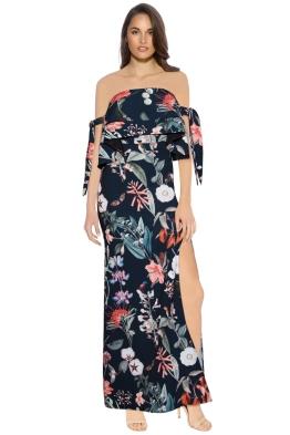 Stylestalker - Jasper Maxi Dress - Front - Floral Black