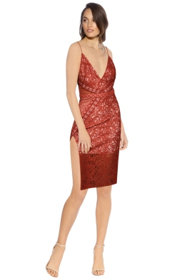 Stylestalker - Laylor Midi Dress - Front - Red