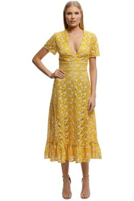 6fda08e01fdd Yellow Midi Designer Dresses for Hire | GlamCorner