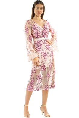 Talulah - Anaphora Midi Dress - Pink Multi - Front