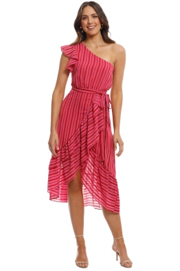 Talulah - Candy Flounce Midi Dress - Pink - Front