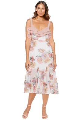 Talulah - Darcy Midi Dress - Floral Pink - Front