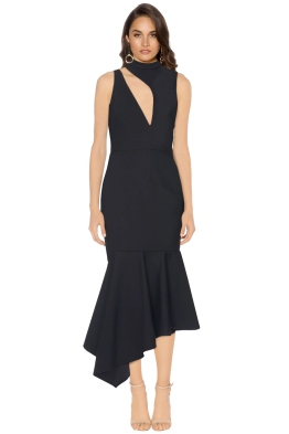 Talulah - Foundation Midi Dress - Front - Black