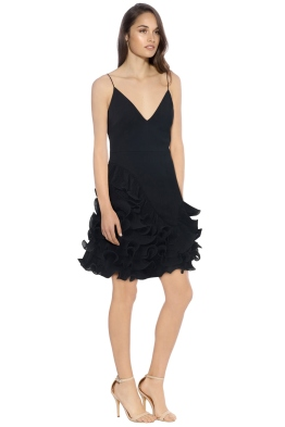 Talulah - Golda Ruffle Mini Dress - Black - Side