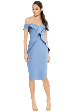 Talulah - Indira Bodyicon Dress - Baby Blue - Front