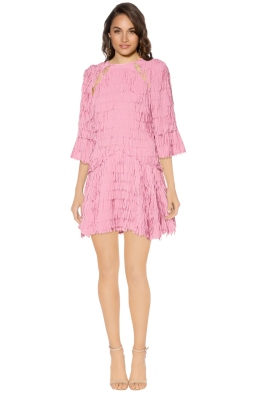 Talulah - Leilani Fringe Mini Dress - Front - Pink
